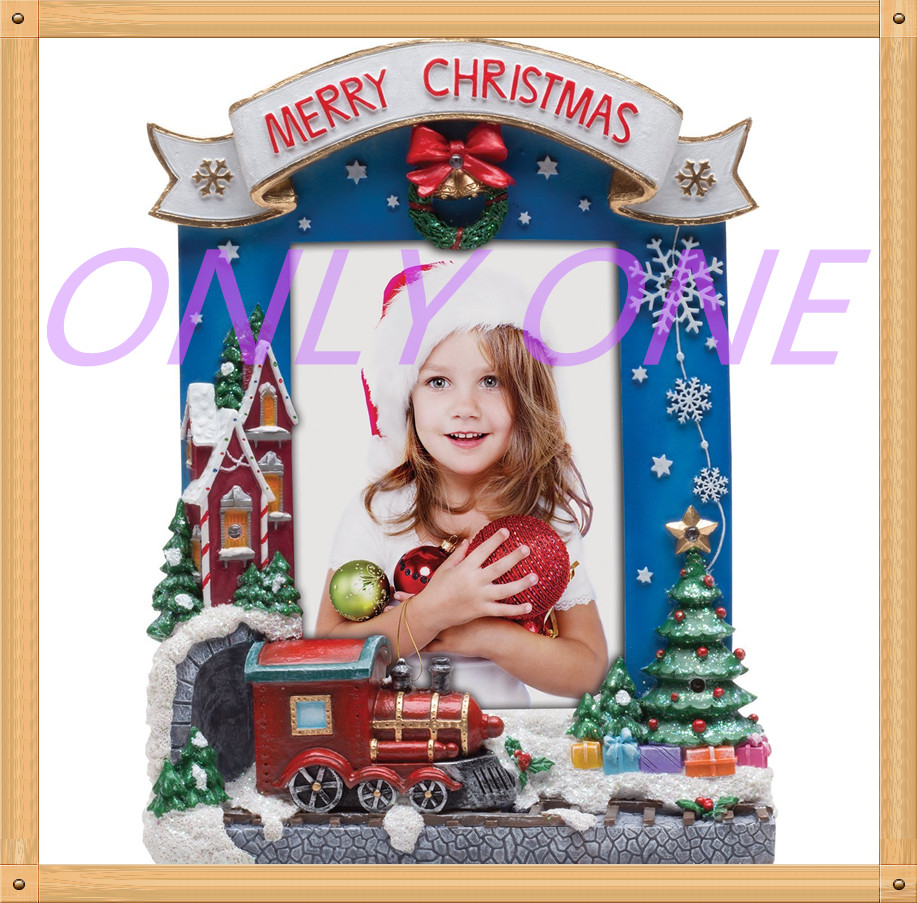 Hot Sale Christmas Resin Photo Frame