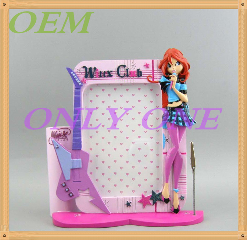 OEM girl figure photo frame